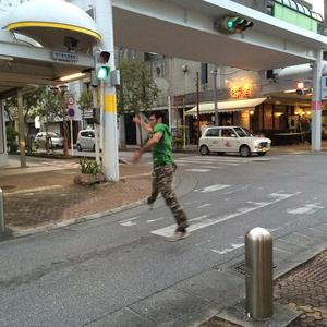 一歩で渡れる横断歩道