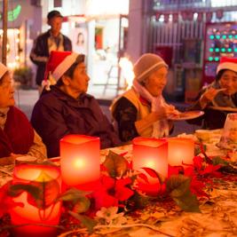 国頭村与那のおばあだけのクリスマスパーティーに参加してきた
