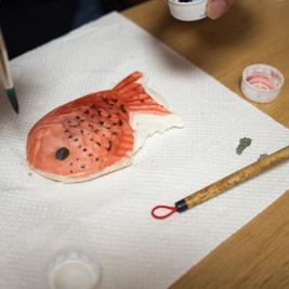 白いたいやきを沖縄の魚色にしてみる