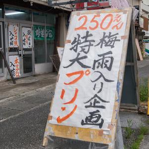 特大プリンの発売をはじめたテーマのある鮮魚店