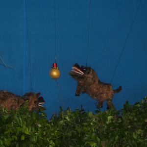 名護市川上の豊年祭で「操り獅子」を見て来た
